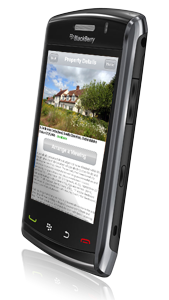 blackberry mobile estate & letting agents web site